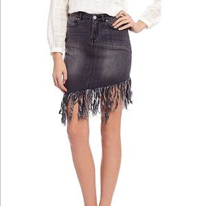 NWT William Rast Denim Fringe Skirt